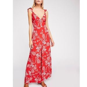 Free People Pants - Free People Be The One Pantsuit Jumpsuit Floral